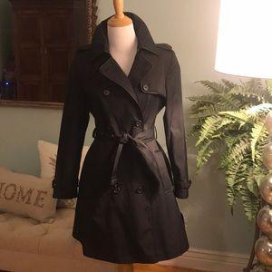 Lauren Ralph Lauren contrast piped trench coat PS